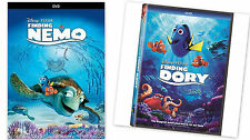 2 PACK - Finding Dory + Finding Nemo (DVD, 2016) Aimation COMBO NOW SHIPPING !