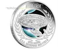 1 $ Dollar Star Trek U.S.S. Enterprise NCC-1701-D Tuvalu 1 oz Silber 2015