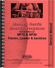Massey Ferguson 70 80  Industrial Tractor Service Manual (MH-S-MF70,80)