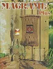Macrame Plus Vintage Pattern Projects Instruction Book Craft Course 1976 NEW