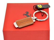 Ferrari official key-holder portachiavi steel & leather new in box   FE04
