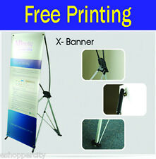 """Trade Show X BANNER Pop Up Stand Display Free Printing Made in USA 24"""" x 62.5"""""""