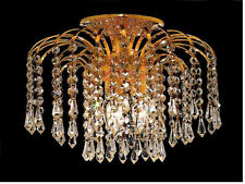 "Palace Lexington 12""  Crystal Chandelier Flush Mount Light G -Precio Mayorista"
