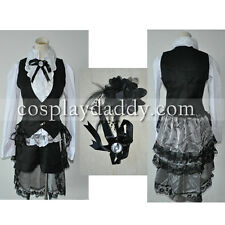 Black Butler Ciel Phantomhive Cosplay Costume Black& White Suit outfit