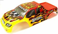 08302 1/8 Escala Rc Nitro Monster Truck Body Shell cubrir Rojo Corte de llama