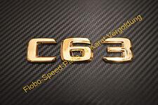 Lettrage emblème plaque signalétique AMG c63 cls63 C ml63 s65 cl63 e63 doré or