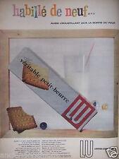 PUBLICITÉ 1957 PETIT BEURRE LU HABILLÉ DE NEUF - ADVERTISING