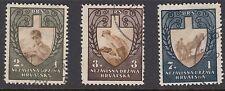 CROATIA : 1943 Labor Front set  SG 74-6 fine used
