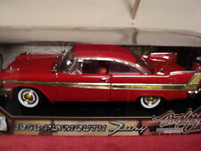 MotorMax 1958 Plymouth Fury  1/18th scale new in box 2015 release Red exterior