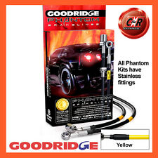 Ford Focus Mk3 ST250 11 on Goodridge Stainless Yellow Brake Hoses SFD0253-4C-YE