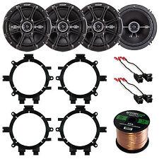 """Kicker 6.5"""" 2-Way 240W Car Speakers, Speaker Wire, Adapters, GM 88-UP Harness"""
