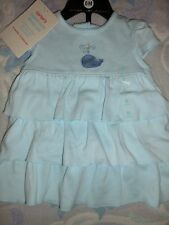 nwt Carters blue whale tiered ruffle dress panty baby girl 6 m free ship USA