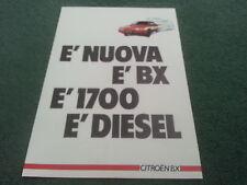 1985 1986 citroen bx 17D 1700 diesel-marché italien couleur dossier de brochure