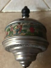 ANTIQUE  THE NEW CHORAL TOP  Litho Tin Spinnig Top Toy Germany