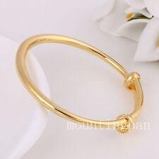 2PCS beau bracelet pour enfants 24k solide or jaune rempli 45mm bracelet cadeau