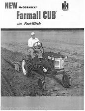 FARMALL CUB with Fast Hitch Sales Brochure manual