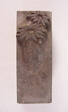 Vintage Collectible Metal Flower Letterpress Printing Press Block Stamp
