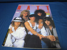 Ratt in Japan 1986 Photo Document Japan Book Warren De Martini Robbin Crosby