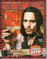 Rivista CIAK ANNO 2006 NUMERO 1 CON SCHEDE - JONNY DEPP L'ATTORE DELL'ANNO !!