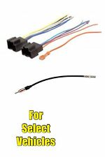 Car Stereo Radio Wire Harness + Antenna Adapter Combo Set for select GM Vehicles