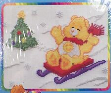 Care Bears Funshine Bear Sledding Counted Cross Stitch Kit Embroidery New Pack