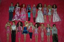 BARBIE DISNEY DOLL  LOT 18 DOLLS WITH CLOTHES DOLLS MATTEL
