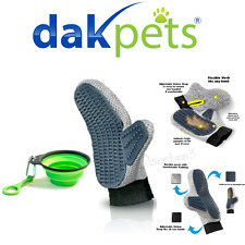 DakPets Pet Grooming Glove Removes Loose Fur From The Undercoat Cats & Dogs
