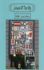 """Love Letters Quilt Pattern, Joined at the Hip, 38"""" x 51"""", Wall Quilt Pattern#258"""