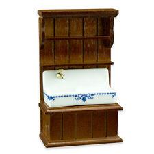 Reutter Porzellan Küchenwaschbecken blau / Blue Sink Cabinet 1:24 Puppenstube