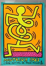 After Keith Haring: Orig. Poster to promote the Montreux Jazz Festival 1983, `83