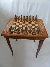 Vintage Italian Musical Sewing/Game Box Table Complete with Chess & Draughts Set