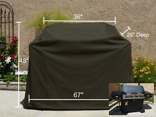 Outdoor BBQ Grill Cover,Fit Broil-Mate 3-Burner Propane Gas Grill Cart,Black,67""
