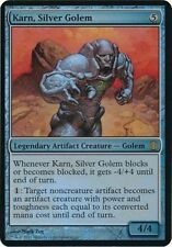 MAGIC KARN, SILVER GOLEM FOIL OVERSIZED CARD - COMMANDER'S ARSENAL LIMITED EDIT.