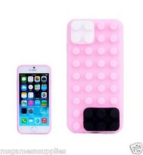 Pink Lego Building Blocks Style Silicone Gel 3D Case for iPhone 6+ 6PLUS 5.5