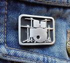 DRUM KIT Pewter Pin Badge