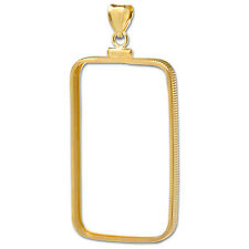 14K Gold Screw-Top Plain-Front Bezel (1 oz Gold Bar) - SKU #30534