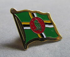 """Dominica Flag Pin, Red, White and Green, Metal, Badge, Souvenir 3/4"""""""