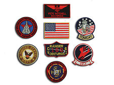 US Navy Top Gun Fighter ( Pete Mitchell ) Tactics Iron On Patch Set - 8 Badges