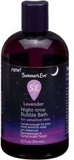 Summer's Eve Lavender Night-Time Bubble Bath For Sensitive Skin, 12 Fl Oz