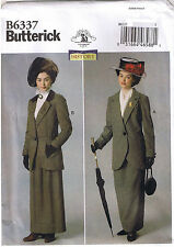 Victorian Early 1900s 20th Century Jacket Skirt Sewing Pattern 6 8 10 12 14