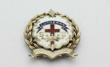 Sterling Silver .925 Lutheran Second Year Enamel Cross Pin 3.8g G338