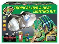 ZOO MED TROPICAL UVB & HEAT LIGHTING KIT -  AQUARIUM REPTILES