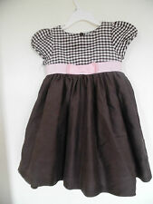 gymboree Brown plaid  Dress Girls Sz 3 3T