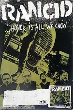 "RANCID ""HONOR IS ALL WE KNOW"" U.S. PROMO POSTER - Punk Rock Music"