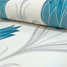 New Belgravia Decor - Crystal Floral Glitter - In Teal - Luxury Wallpaper 242