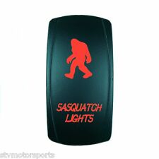 Red 2 Position Rocker Switch Laser Etched 20A 12V Sasquatch Lights Offroad