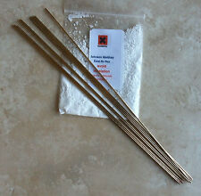 Silver solder Johnson Matthey 34% 10 x 250mm x 1.5mm + flux fantastic value!!