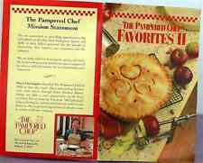 Rare PAMPERED CHEF Recipe Booklet FAVORITES II 1994 LIKE NEW Condition