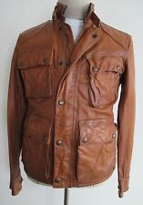 Polo Ralph Lauren Brown Southbury Leather Biker Jacket Mens Size Small NWT $1295