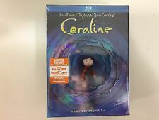 Coraline Gift Set (Blu-ray, 2-Disc, 2009 ) NEW
